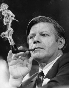 circa 1974:  Chancellor of the Federal Republic of Germany Helmut Schmidt.  (Photo by Keystone/Getty Images)
